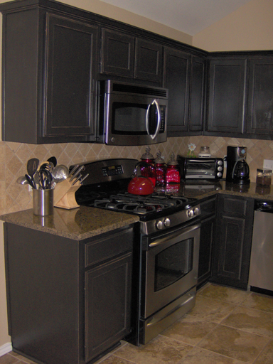 Remarkable Painted Kitchen Cabinets with Black Appliances 384 x 512 · 203 kB · jpeg