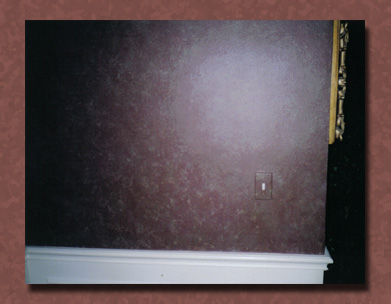 Example of a sponging  faux painting finish