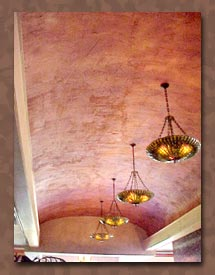 Venetian Plaster on the ceiling of a West Lake restaurant.