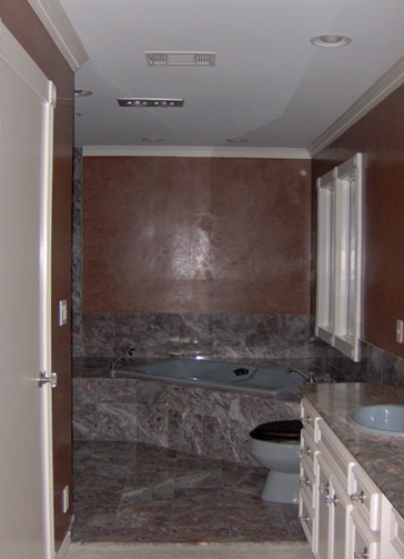 Venetian Plaster faux finish in a Master Bath