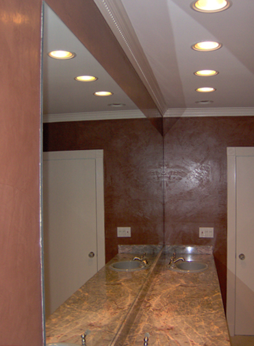 Master Bath after Venetian Plaster faux finish.